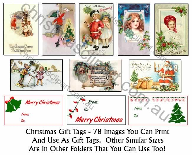 vintage gift tags,old gift tag images,christmas scrapbooking images