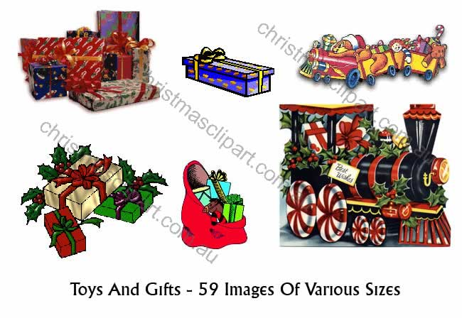 toy clipart,christmas gift art,christmas card graphics,christmas scrapbooking images
